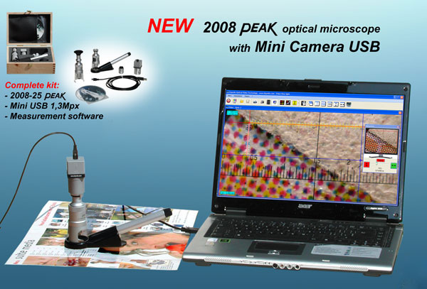 Peak #2008 Optical Microscope + Mini Camera USB